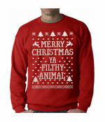 Merry Christmas Ya Filthy Animal Crewneck Sweatshirt