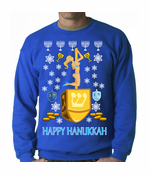 Ugly Happy Hanukkah Dreidel Sweater Crewneck