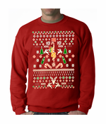 Ugly Christmas Sweater Stripper Pole Crewneck