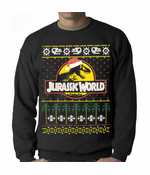 Jurassic World Ugly Christmas Sweater Crewneck