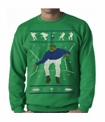 Ugly Christmas Sweater Dancing Man Crewneck