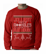 Ugly Sweater Jolliest Bunch Of A**Holes Crewneck