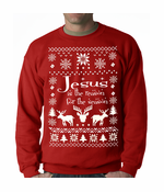 Ugly Sweater Jesus is the Reason Crewneck