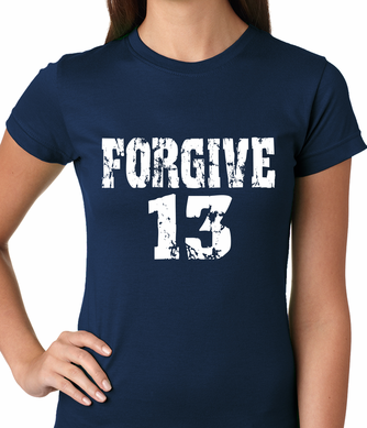 Forgive #13 Baseball Women's T-shirt