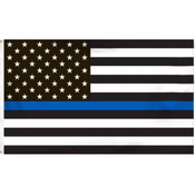 Thin Blue Line Police American Polyester Flag 3x5 Foot