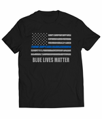 Blue Lives Matter Blue Line Flag Men's T-shirt