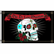 3 x 5 Foot Day of the Dead Flag