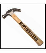Happy Father's Day Engraved Wood Handle Hammer