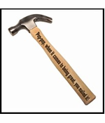 Pop-pop, When it Comes to Being Great Engraved Wood Hammer