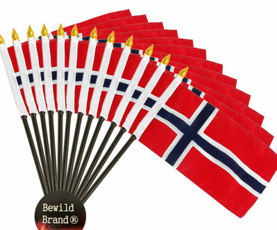 4x6 Inch Norway Flag (12 Pack)