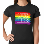 Rainbow Love Wins Gay Marriage Equality Women's T-shirt