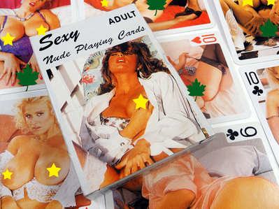 Nude Women Playing Cards