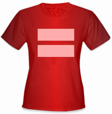 Girl's Equality T-Shirt with Pink Equal Sign