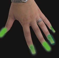 Glow in the Dark Finger Nails (Set Of 10)