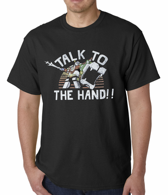 Official Voltron Talk To The Hand Men's T-shirt