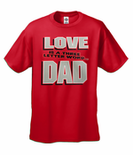 Love Is A Three Letter Word Men's T-shirt