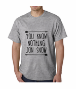 (Black Print) You Know Nothing Jon Snow Men's T-shirt