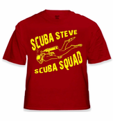 Scuba Steve Scuba Squad T-Shirt From the Movie Big Daddy