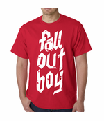 Official Fall Out Boy Metal Stack Mens T-shirt (Red)