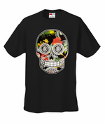 Floral Sugar Skull Men's T-Shirt