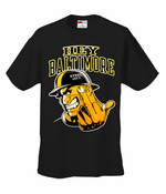 Hey Baltimore - Pittsburgh guy with Middle Finger T-Shirt