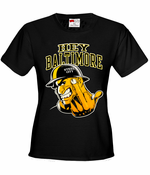 Hey Baltimore - Pittsburgh guy with Middle Finger Women's T-Shirt