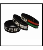 3 Pack of Black Lives Matter Bracelet Red, Black and Green