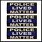 Thin Blue Police Lives Matter Vinyl Stickers (Set of 3)