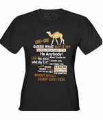 Camel Guess What Day It Is Girl's T-Shirt (Brn/Wh Print)