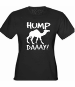 Hump Day Camel Girl's T-Shirt (Black)