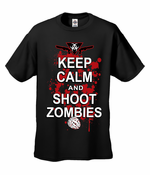Keep Calm And Shoot Zombies Men's T-Shirt