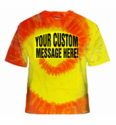 Personalized Custom Saying Red/Orange/Yellow Tie Dye T-Shirt