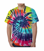 Lava Lamp Spiral Tie Dye Men's T-shirt
