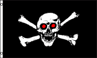 3 x 5 Foot Red Eye Pirate Flag