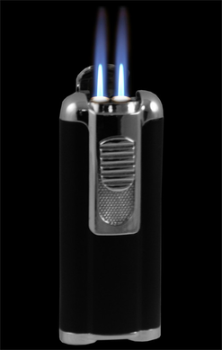 Aficionado Cigar Lighter With Retractable Hole Punch