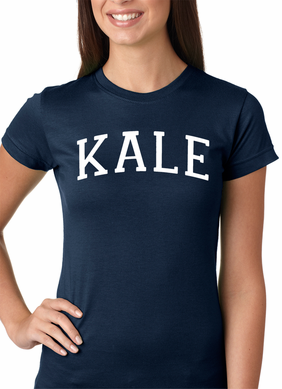 White Print Kale Women's T-Shirt