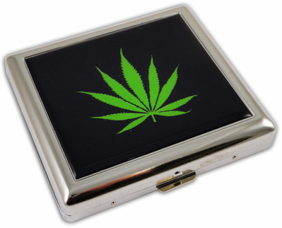 Pot Leaf Cigarette Case King Size