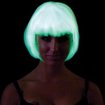 Glow in the Dark Bob Wig (White)