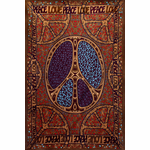 """3D Peace Love Tapestry 60"""" x 90"""""""