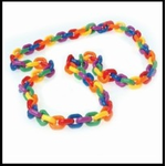 Rainbow Plastic Chain Link Necklace