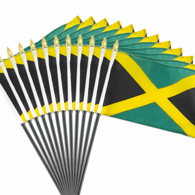 4x6 Inch Jamaican Flag (12 Pack)