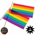 4 x 6 Rainbow Flags (12 Pack)