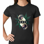Pugs and Drugs Pot Leaf Women's T-shirt