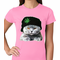 Cat Wearing Pot Leaf Hat Women's T-shirt