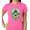 Pot Leaf Sugar Skull Women's T-Shirt