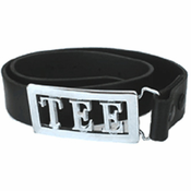 Black Leather Belt Without Buckle