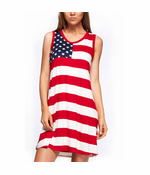 All Over American Flag Tunic Dress