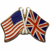 American And Great Britain Flags Lapel Pin