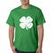 St. Patrick's Day Vintage Distressed 4 Leaf Clover Men's T-Shirt