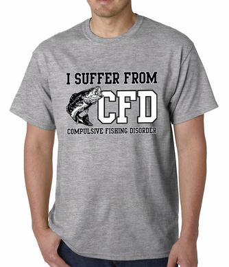 I Suffer From Compulsive Fishing Disorder Men's T-shir